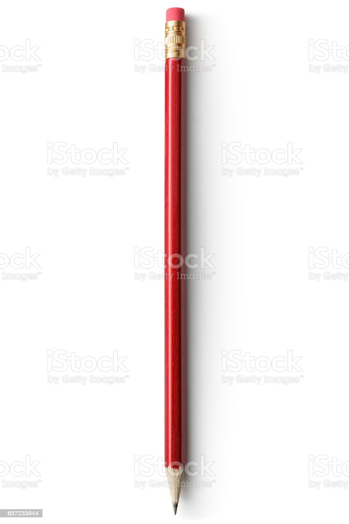 Office: Pencil Isolated on White Background stock photo