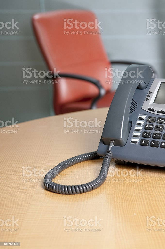 Office Phone On Conference Table royalty-free stock photo