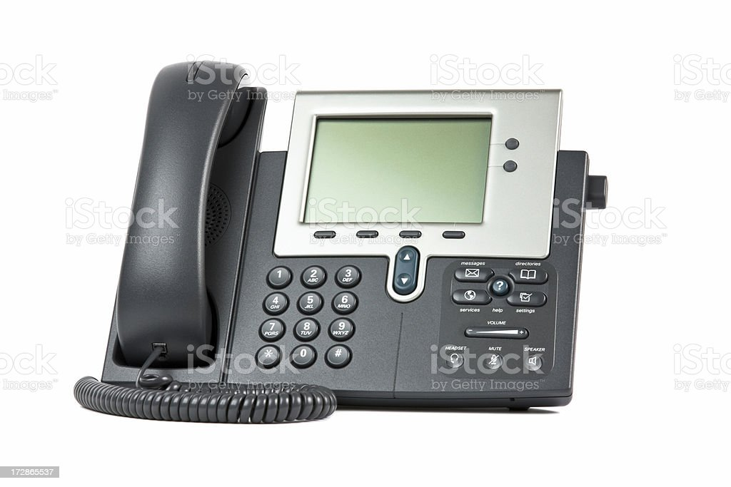 Office phone stock photo