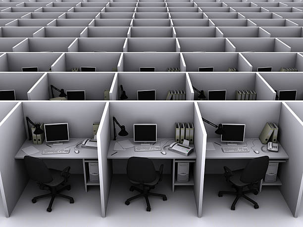 office - office cubicle stock pictures, royalty-free photos & images