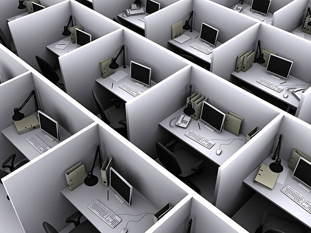 Office cubicle stock photos