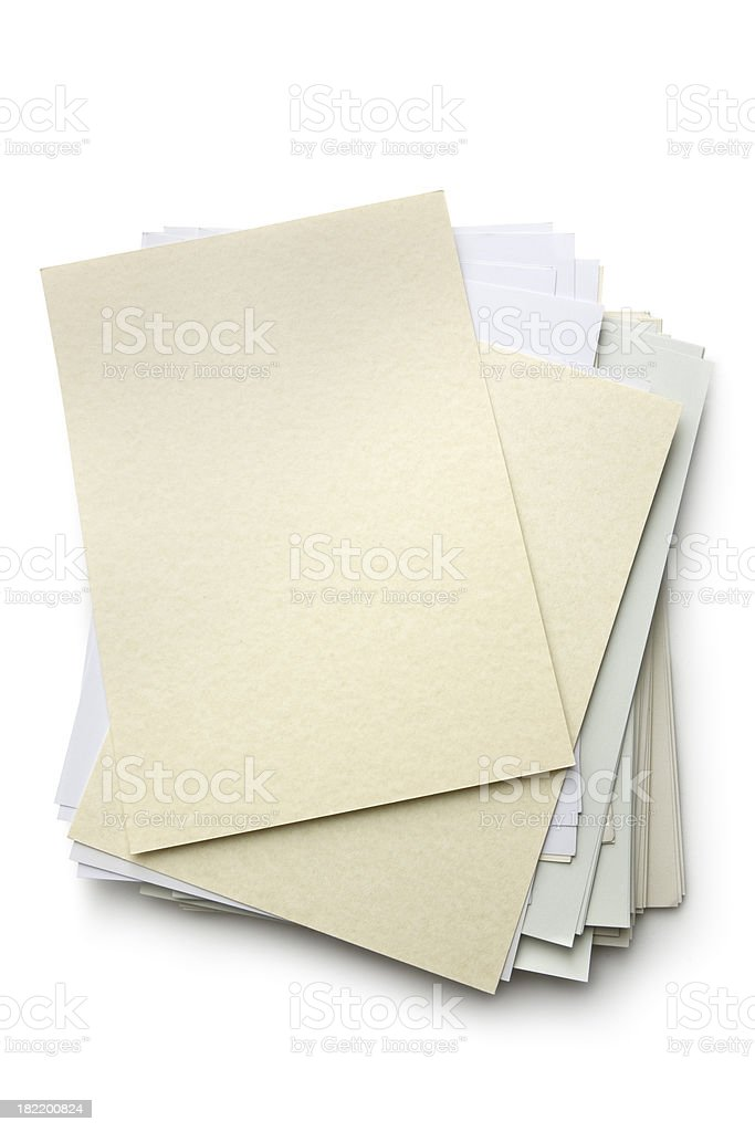 Office: Pile of Paper royalty-free stock photo