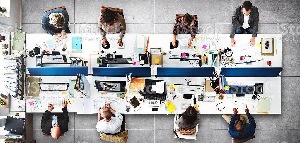 Oficina corporativa concepto de oficio con título - foto de stock