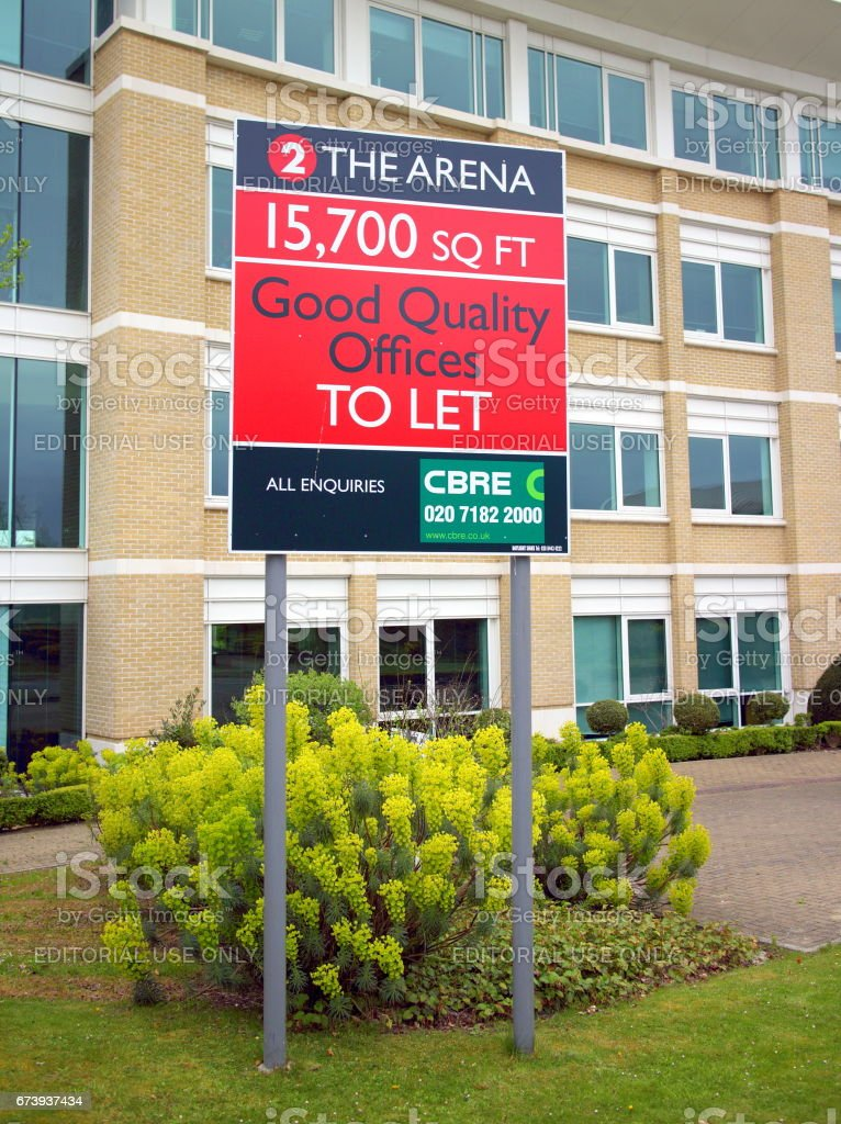 Office Property To Let Sign foto de stock royalty-free
