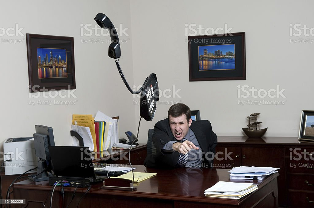 Office Rage royalty-free stock photo