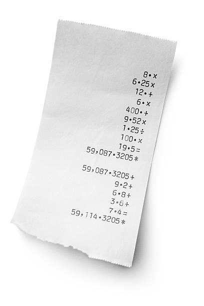 office: receipt - receipt stock photos and pictures