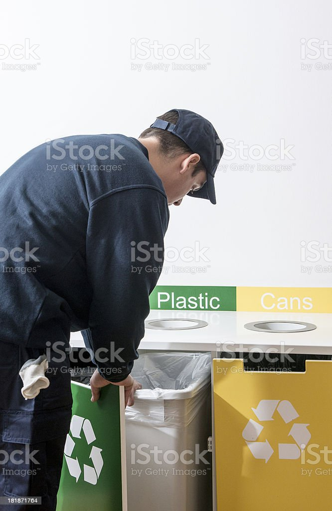 Office recycling stock photo