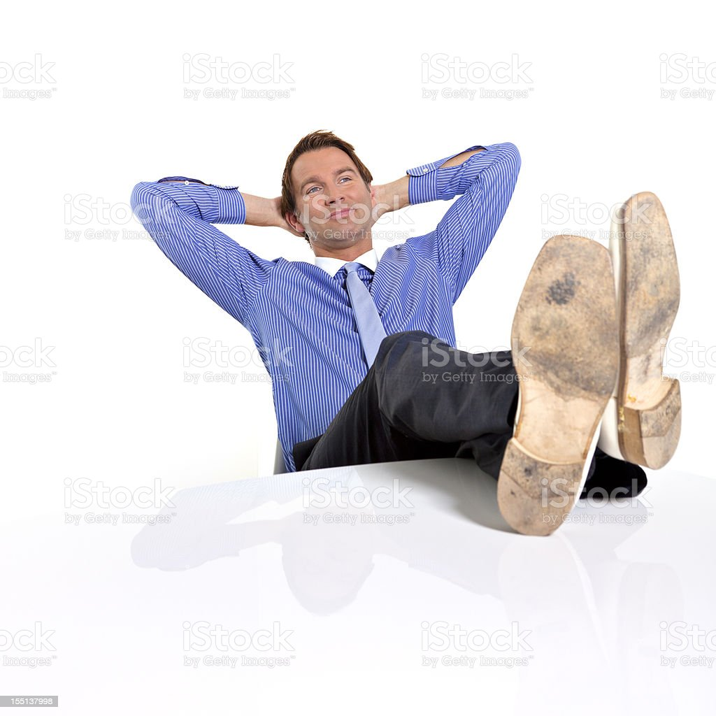 office relaxation royalty-free stock photo
