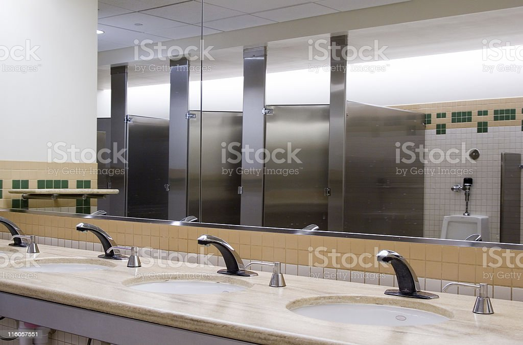Office restroom stock photo