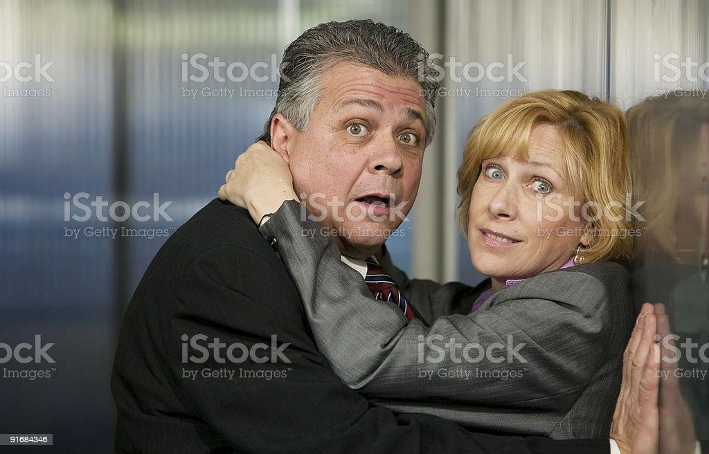 Office Romance royalty-free stock photo