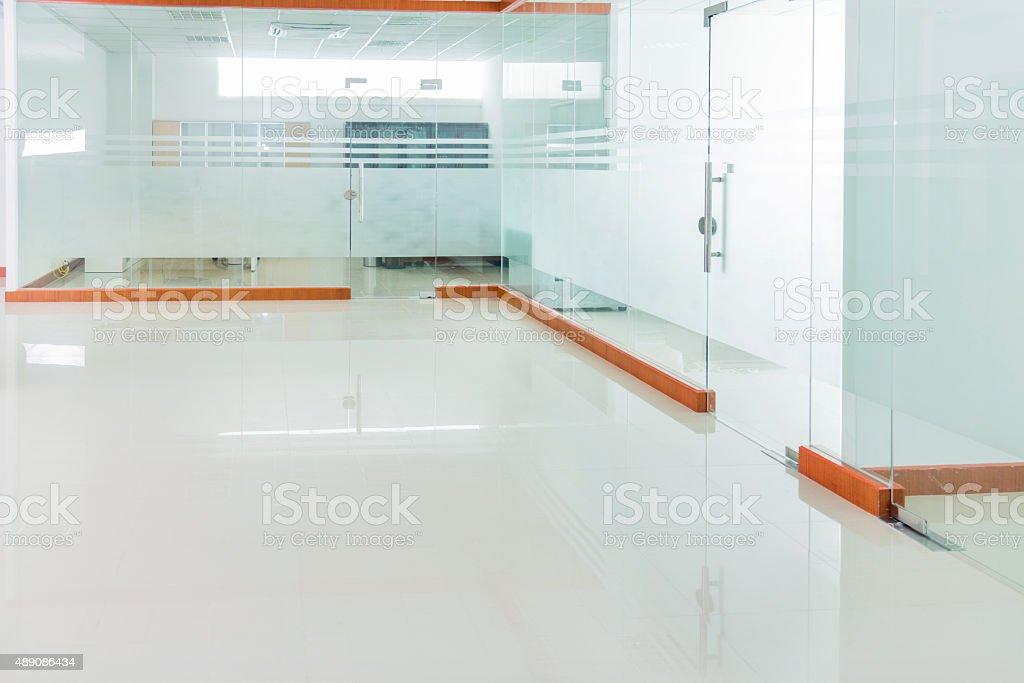 Interior of modern empty office room