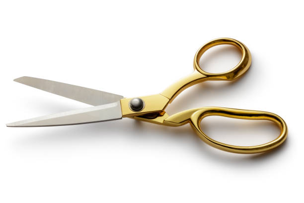 Office: Scissors Isolated on White Background Office: Scissors Isolated on White Background scissors stock pictures, royalty-free photos & images