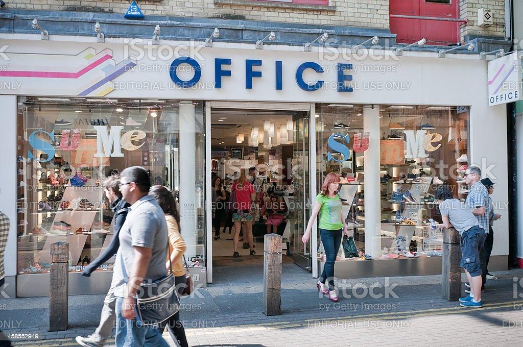 Merveilleux Office Shoe Store, London, UK Royalty Free Stock Photo