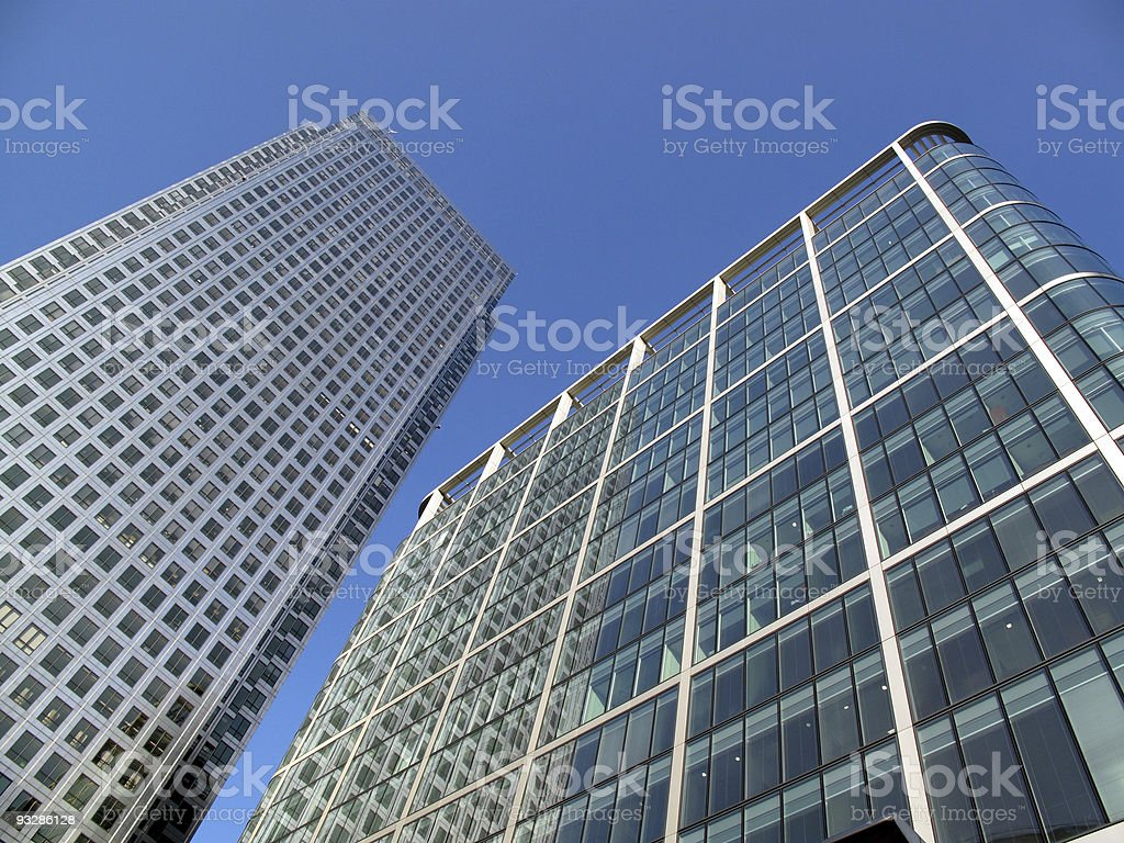 Office Skyscrapers In London's Docklands stock photo