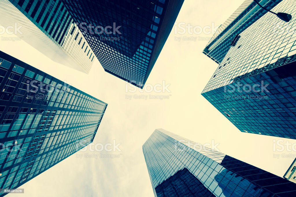 Office skyscrapers in New York City stock photo