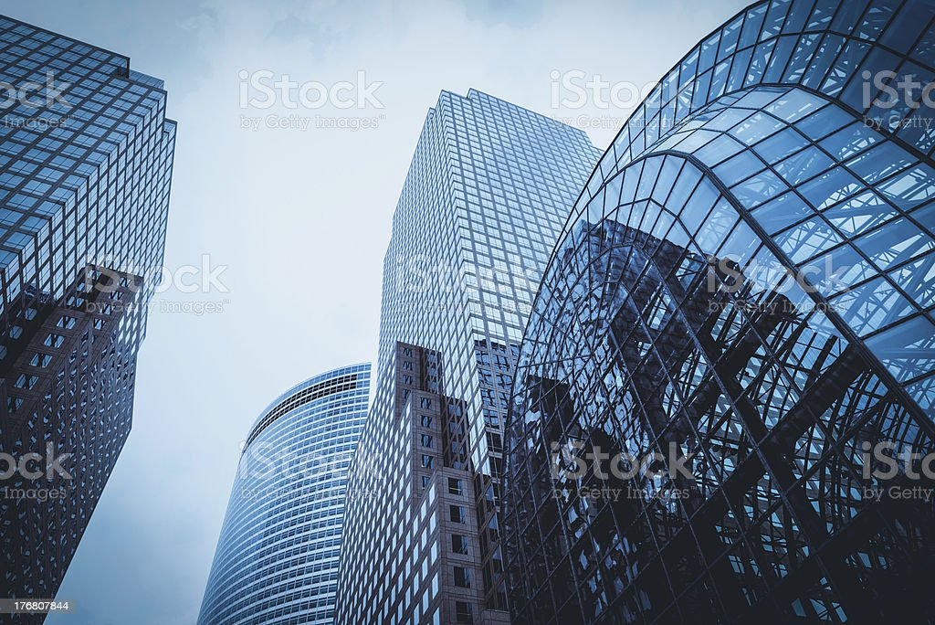 Office skysraper in New York City royalty-free stock photo