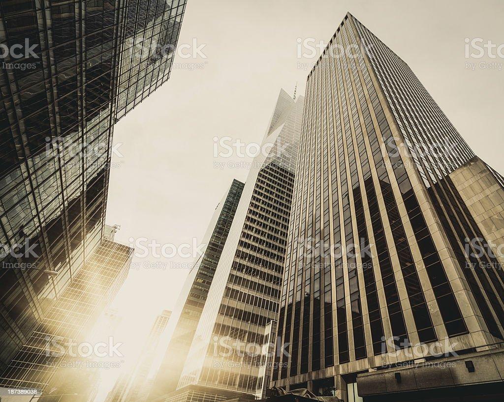 Office skysraper in New York City royalty-free stock photo