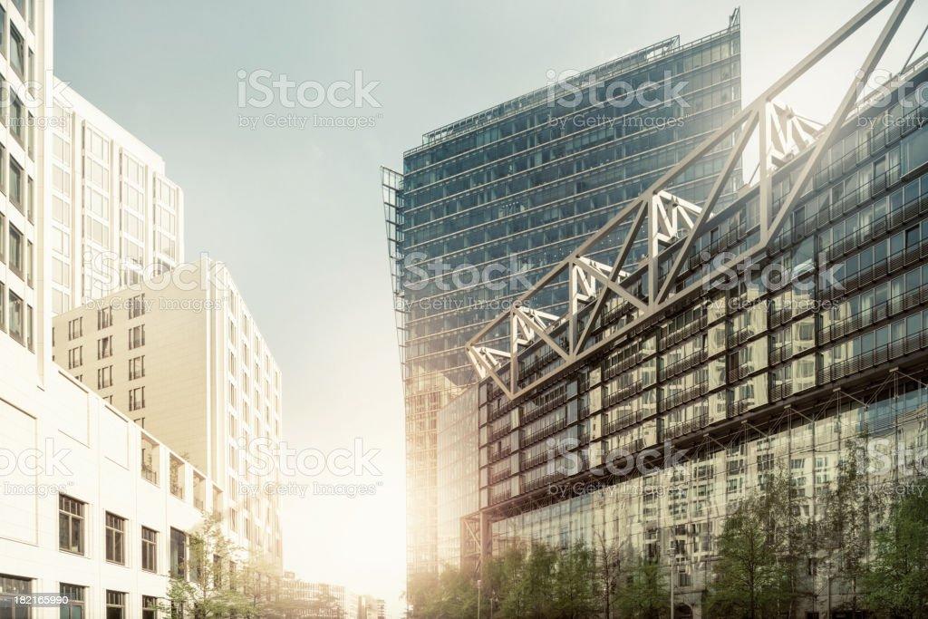 Büro skysrapers in der Sonne – Foto