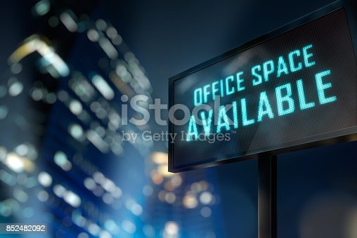 istock Office Space Available Signage 852482092