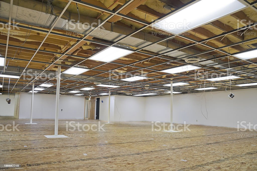 Office Space Being Remodeled royalty-free stock photo