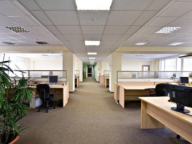 office space - office cubicle stock pictures, royalty-free photos & images