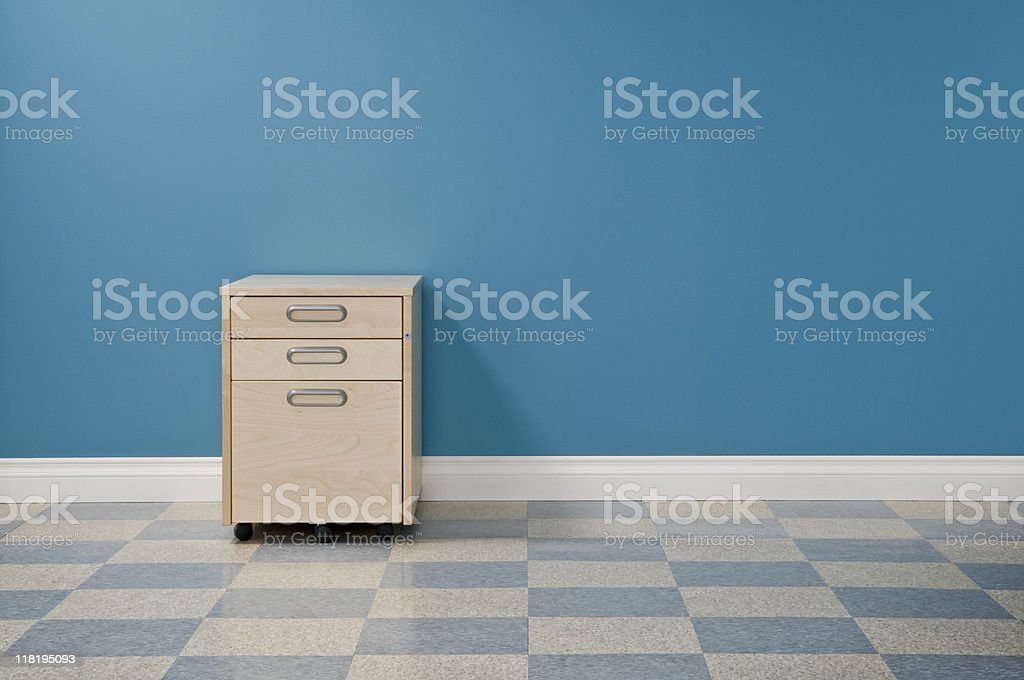 Office Space With File Cabinets royalty-free stock photo