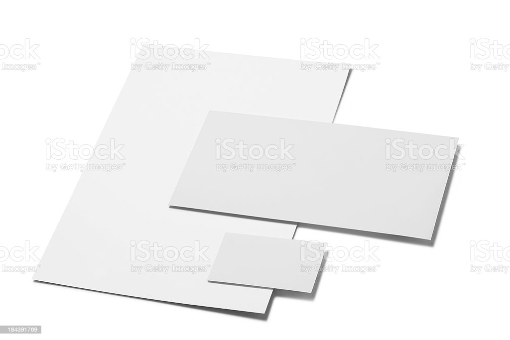 office stationery set stock photo