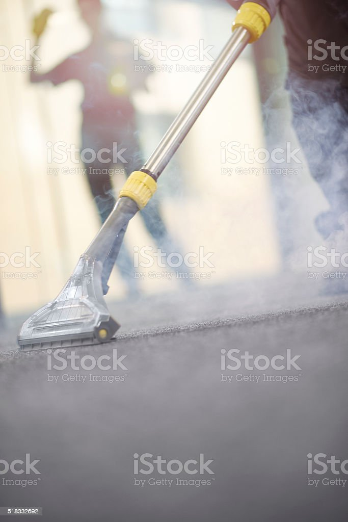 office steam cleaning stock photo