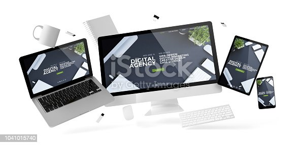 istock office stuff and devices floating with digital agency 1041015740