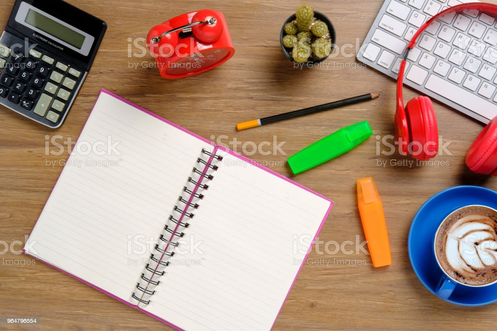 Office stuff with supplies. royalty-free stock photo