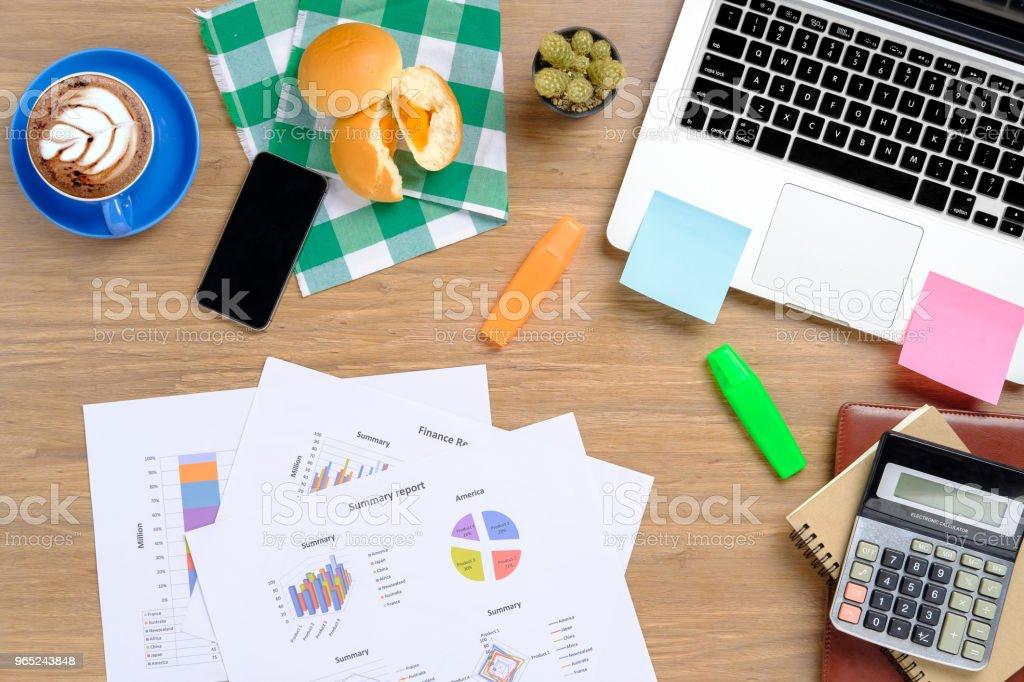 Office stuff with supplies. zbiór zdjęć royalty-free