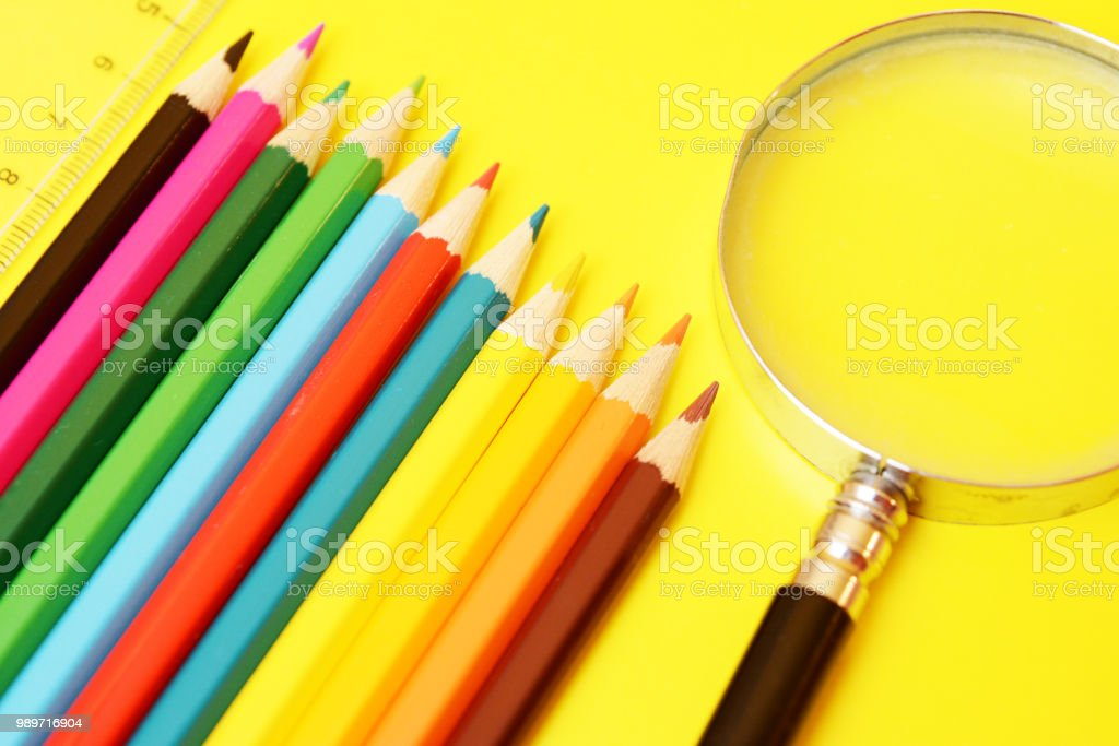 Office Supplies and School stock photo