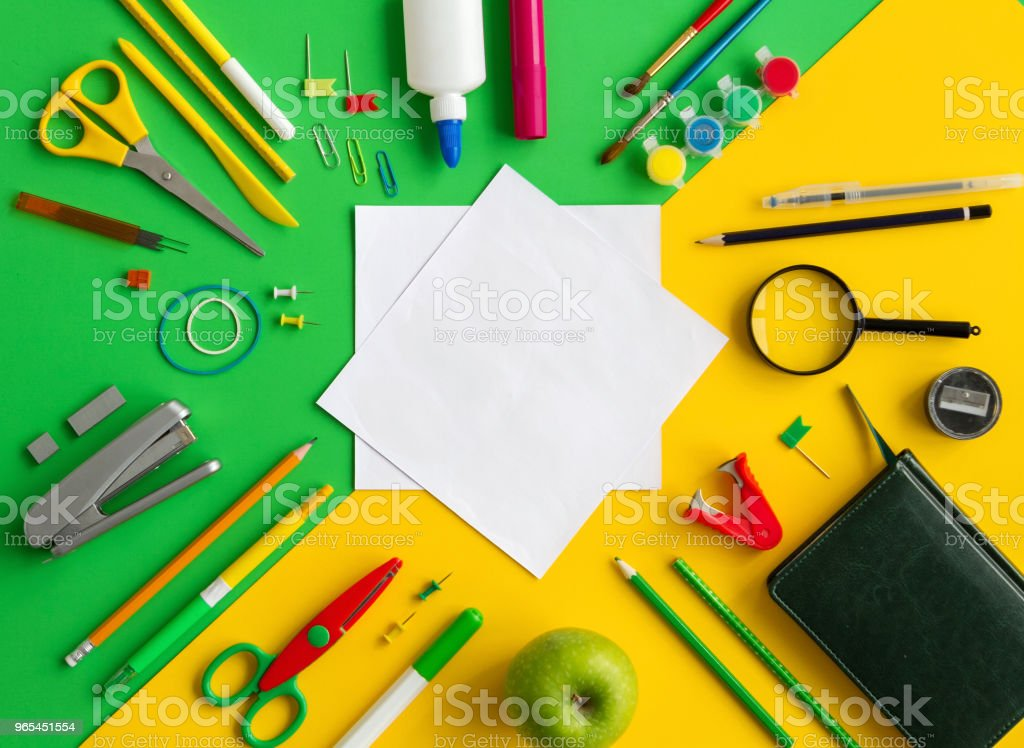 office supplies background royalty-free stock photo