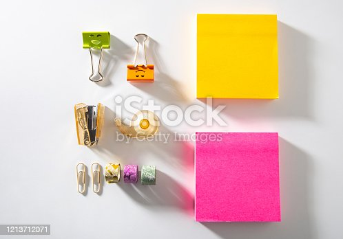 Office Supplies on white backgrounds
