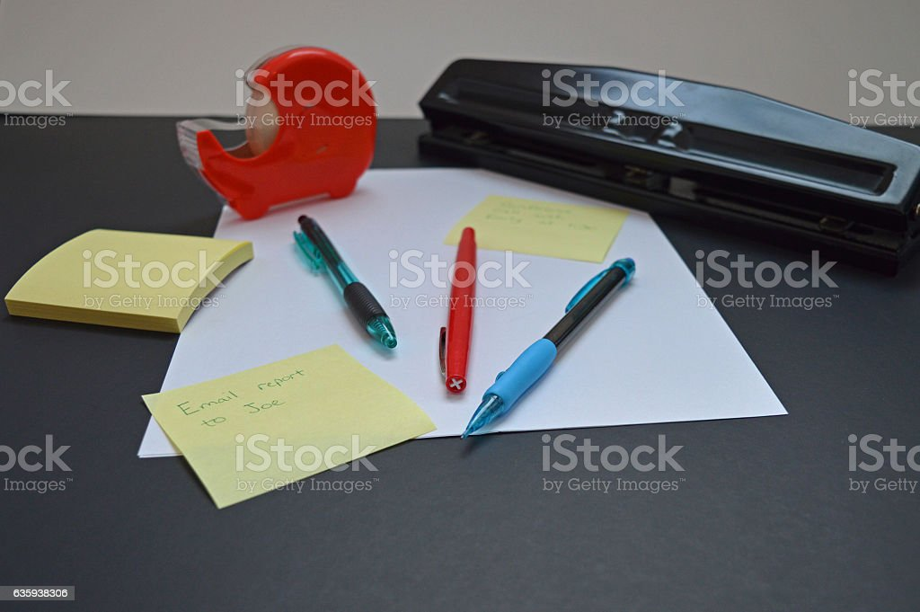 Office supplies stock photo