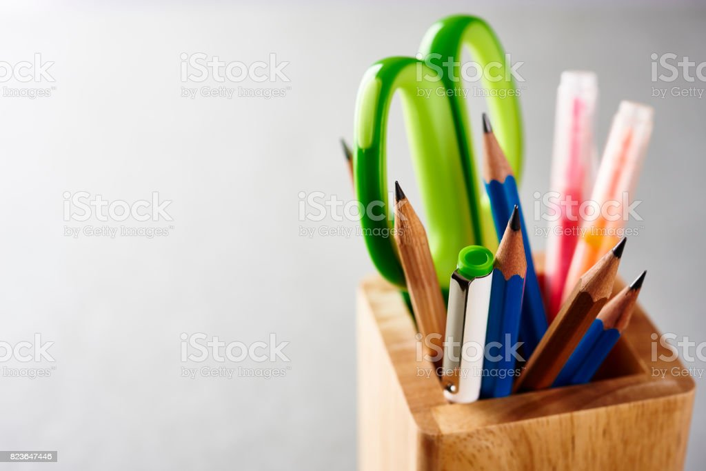 Office supplies. stock photo