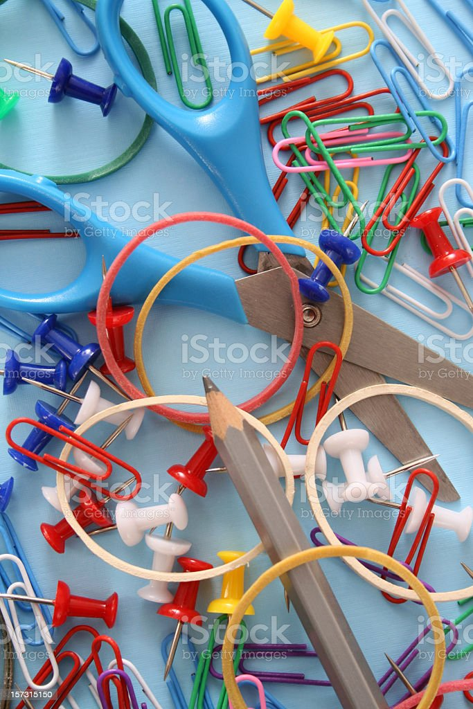 Office supplies still life royalty-free stock photo