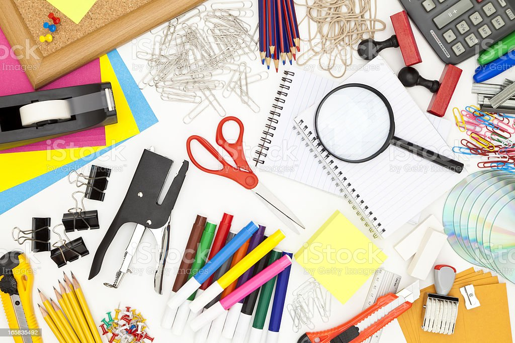 Office Supply Background royalty-free stock photo