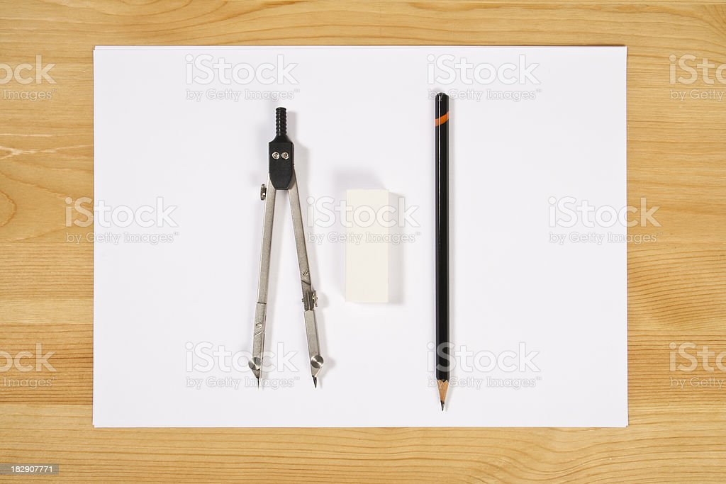 Office Supply Frame royalty-free stock photo