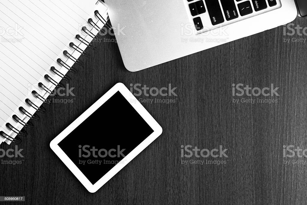 Office Supply on Table stock photo