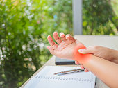 istock Office syndrome hand pain by occupational disease. 847057412