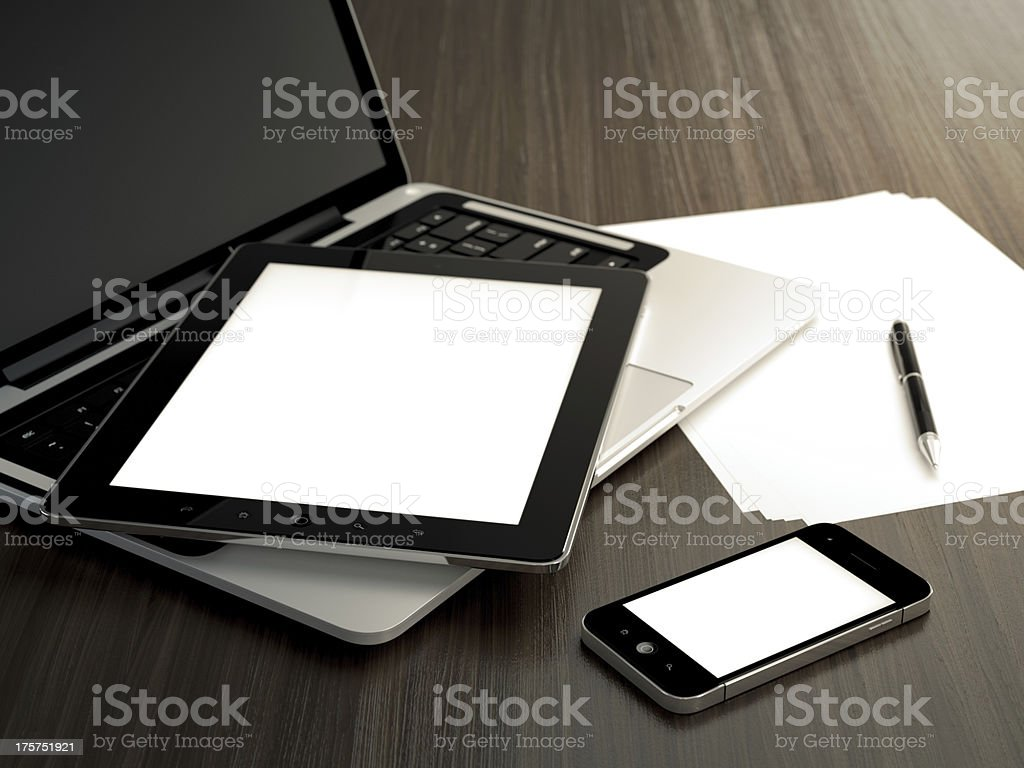 Office table - Royalty-free Black Color Stock Photo