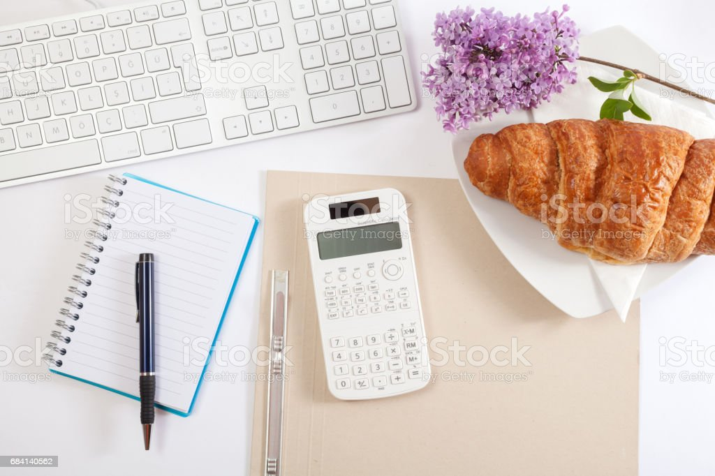 Office table royalty free stockfoto