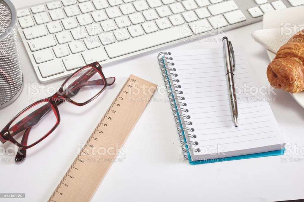 Office table foto stock royalty-free