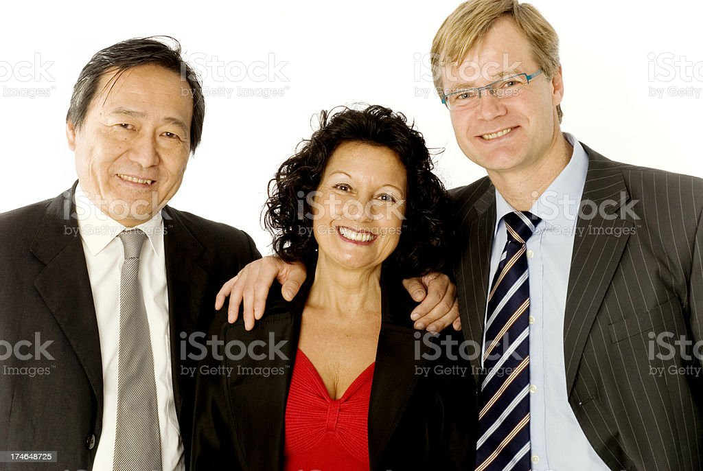 Office team royalty-free stock photo
