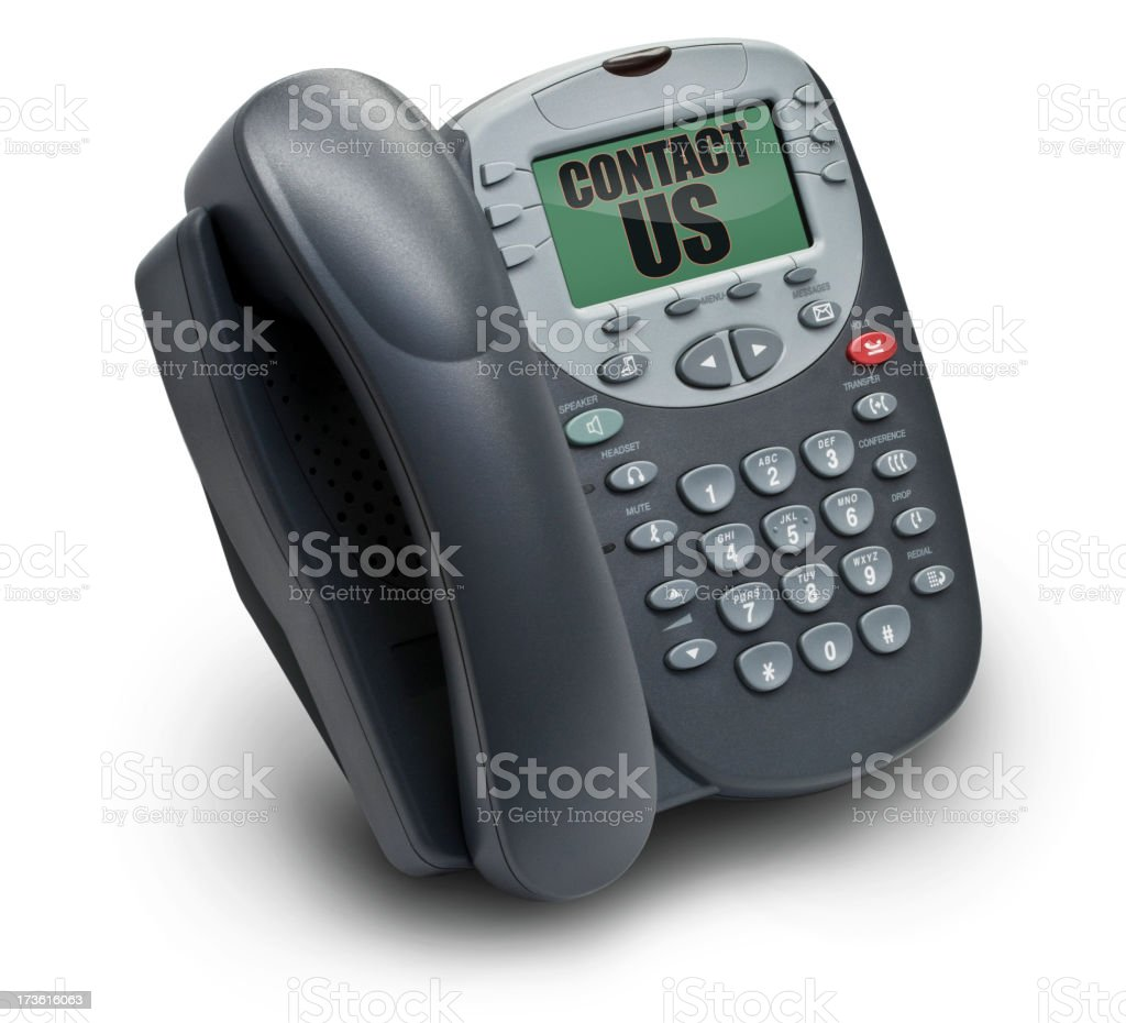 Office Telephone - Contact Us royalty-free stock photo
