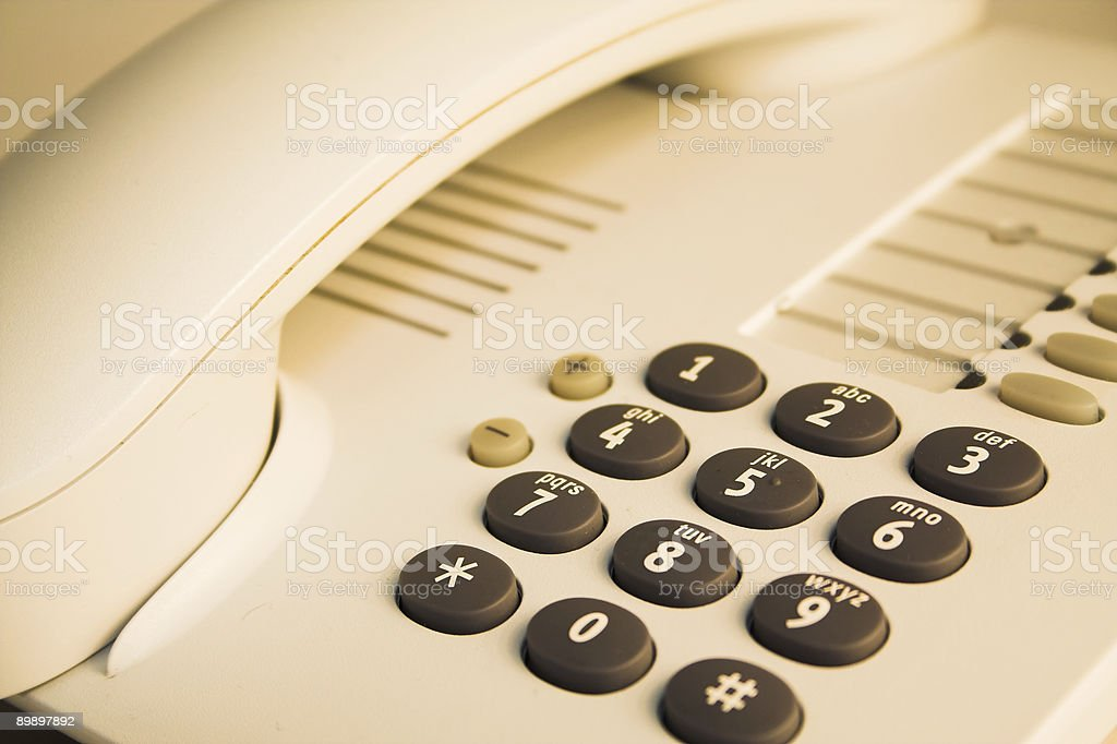 Office telephone. royalty-free stock photo