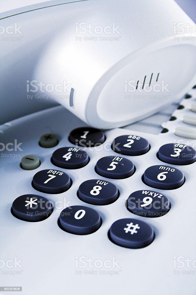 Office telephone stock photo