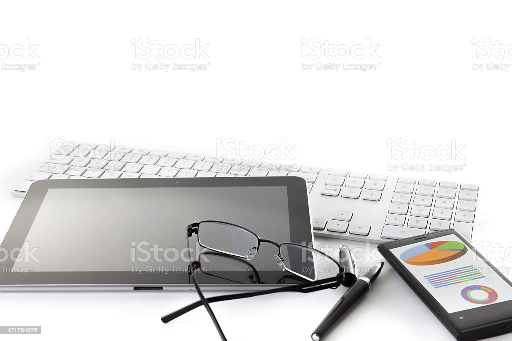office tools and glasses X royalty-free stock photo