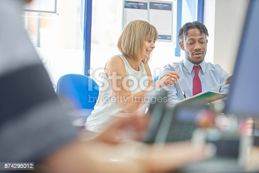 istock Office training for new employee 874295012
